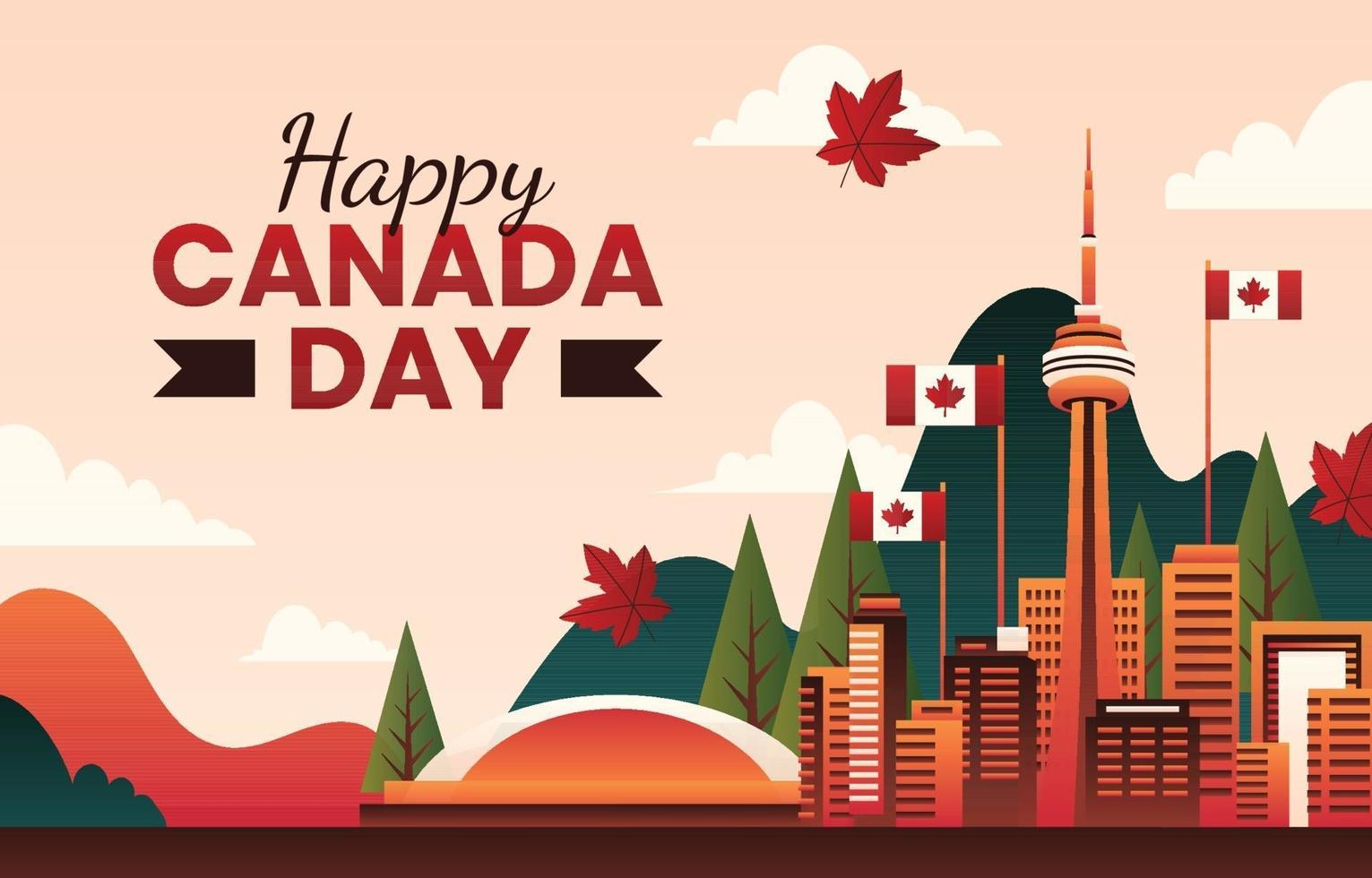 Happy Canada Day Background Concept vector