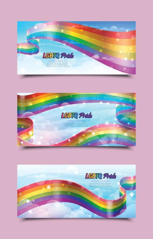 plantillas de banner de orgullo lgbtq vector