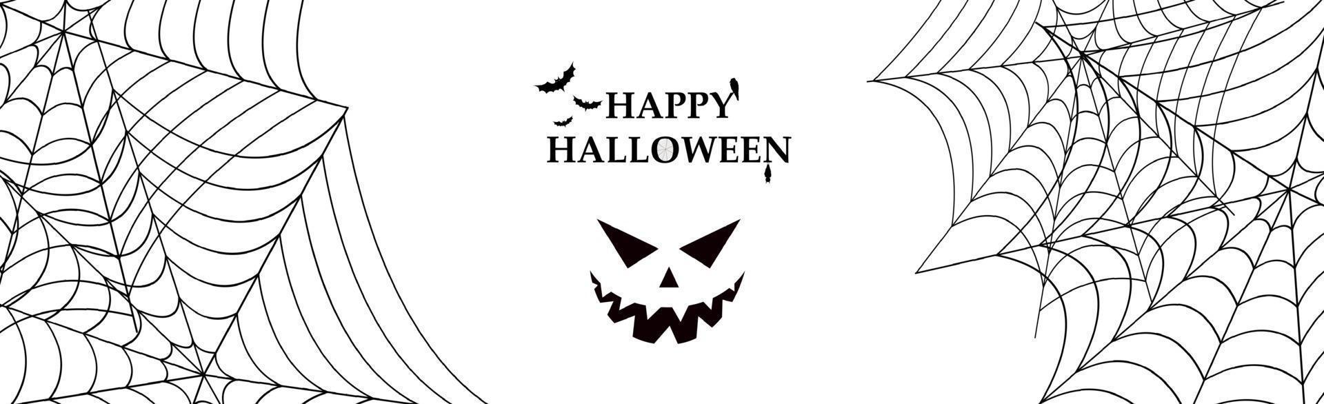 fondo blanco sombrío con elementos de la fiesta de halloween vector