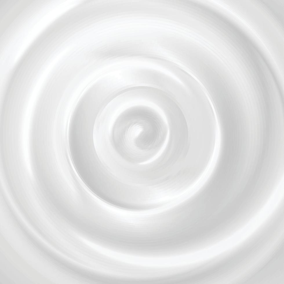 Cosmetic Cream Swirl Background Vector Illustration