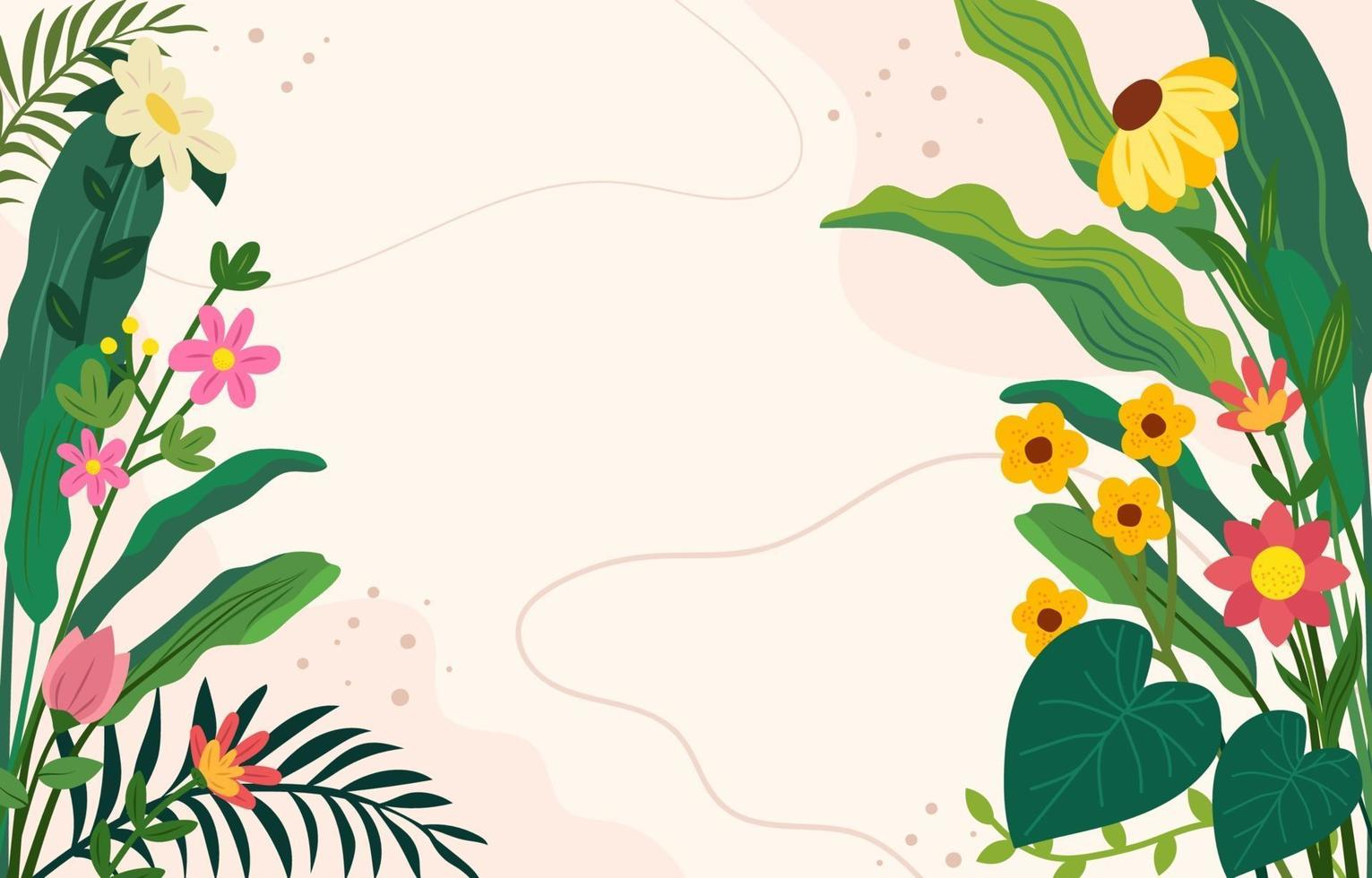 Flower and Foliage background vector
