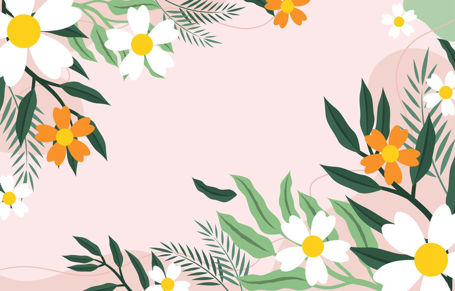Green Color of Foliages Flat Background Design, vector