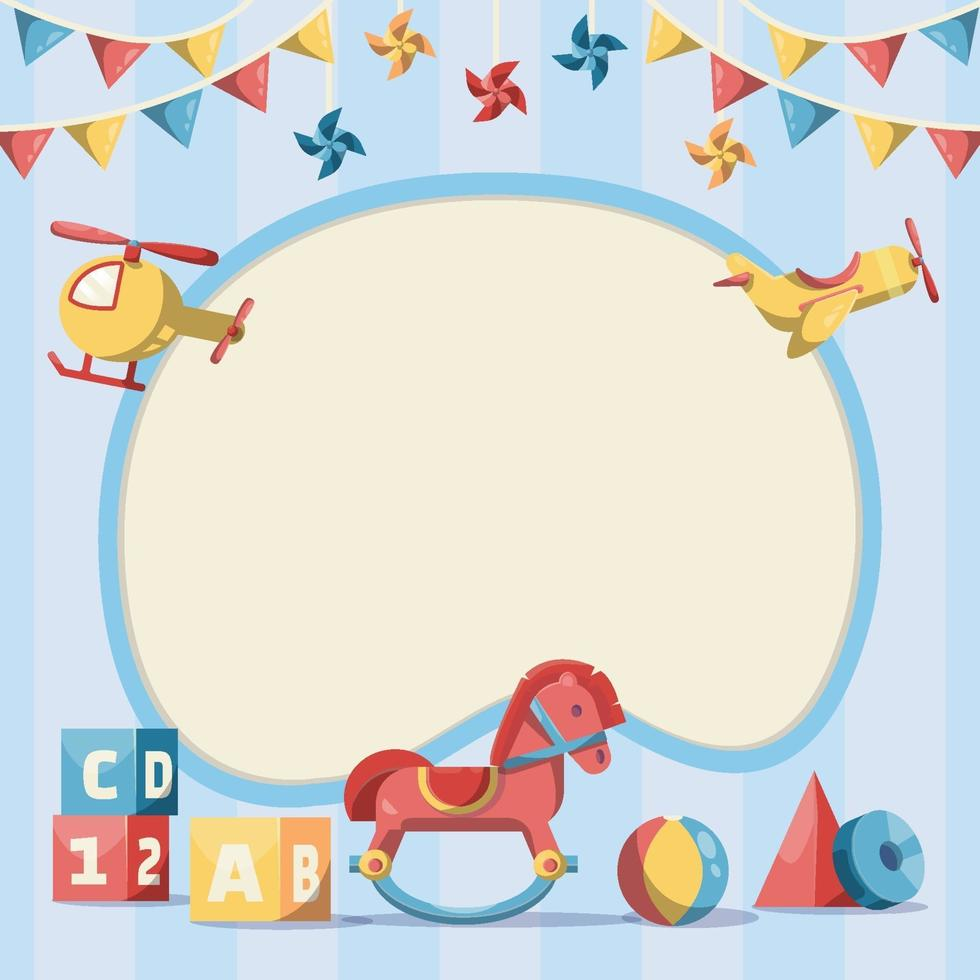 Cute Kids Background Template vector