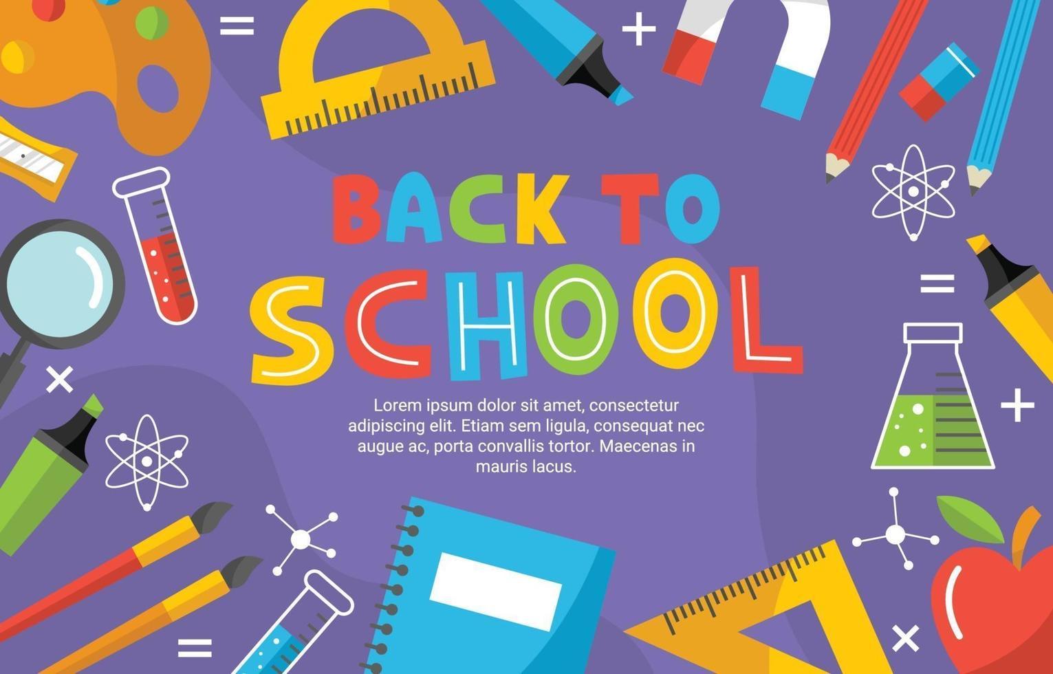 Back tol School Element Background vector