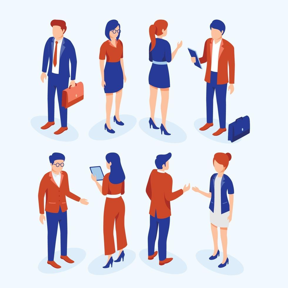 Employees Character in Isometric Style vector