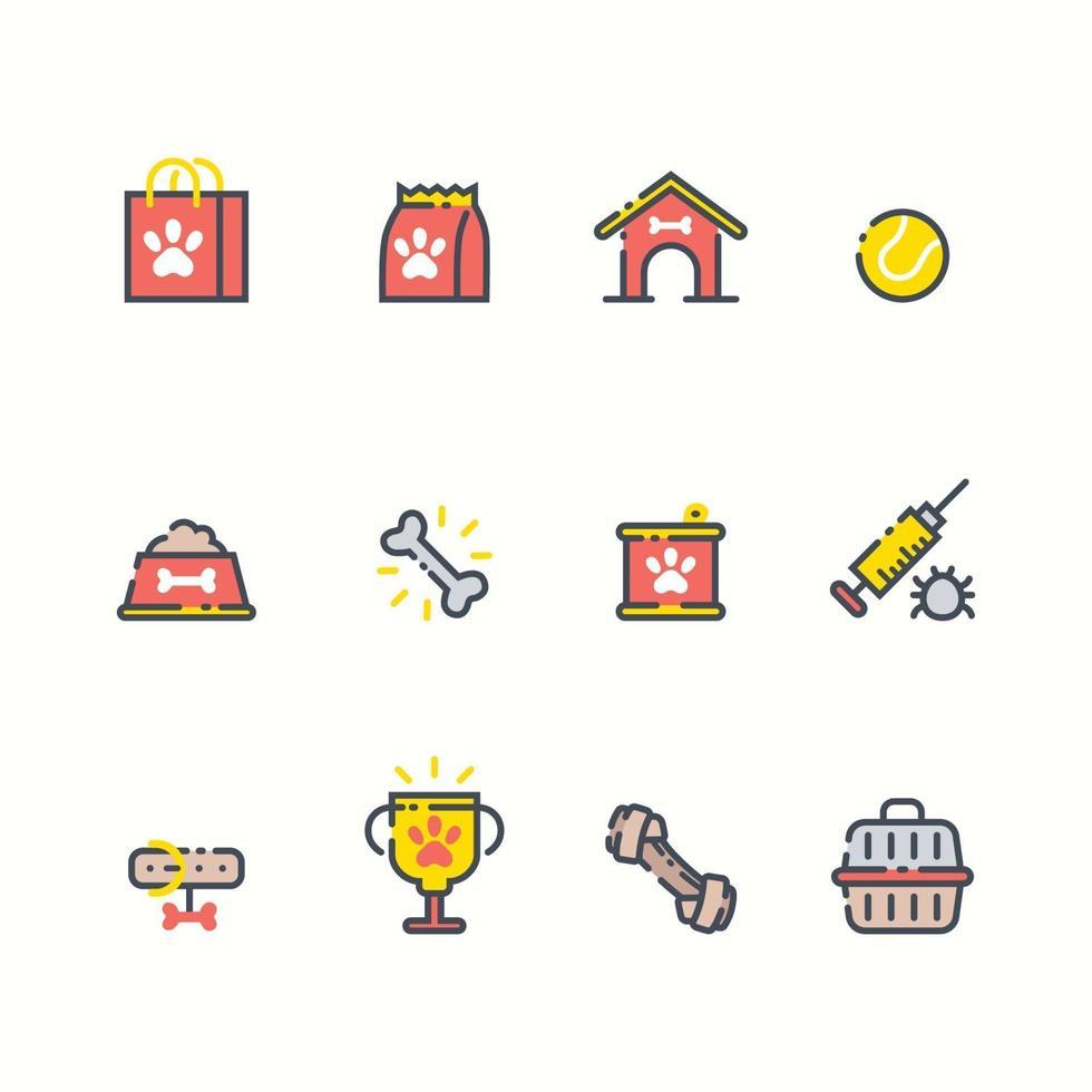 Set of Pet Shop Icon vector