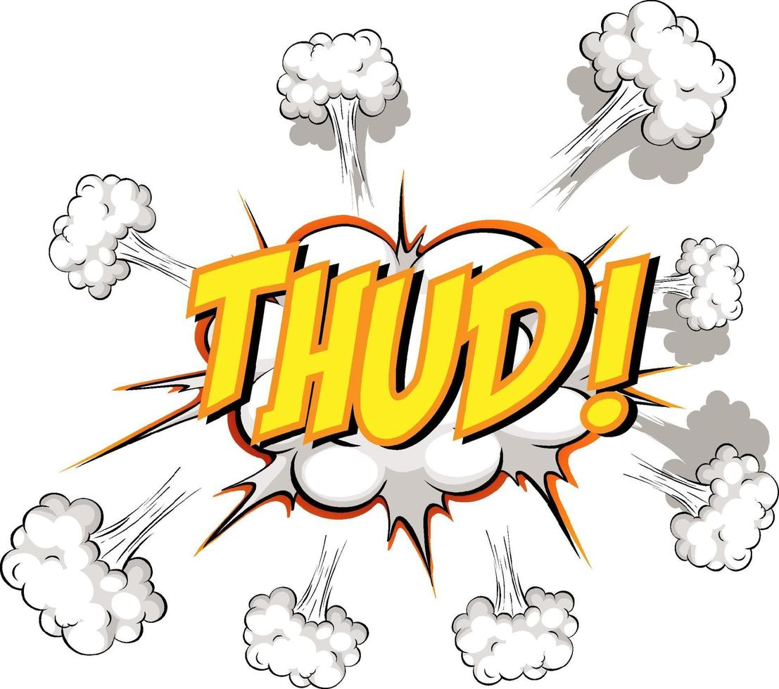 Comic speech bubble with thud text vector