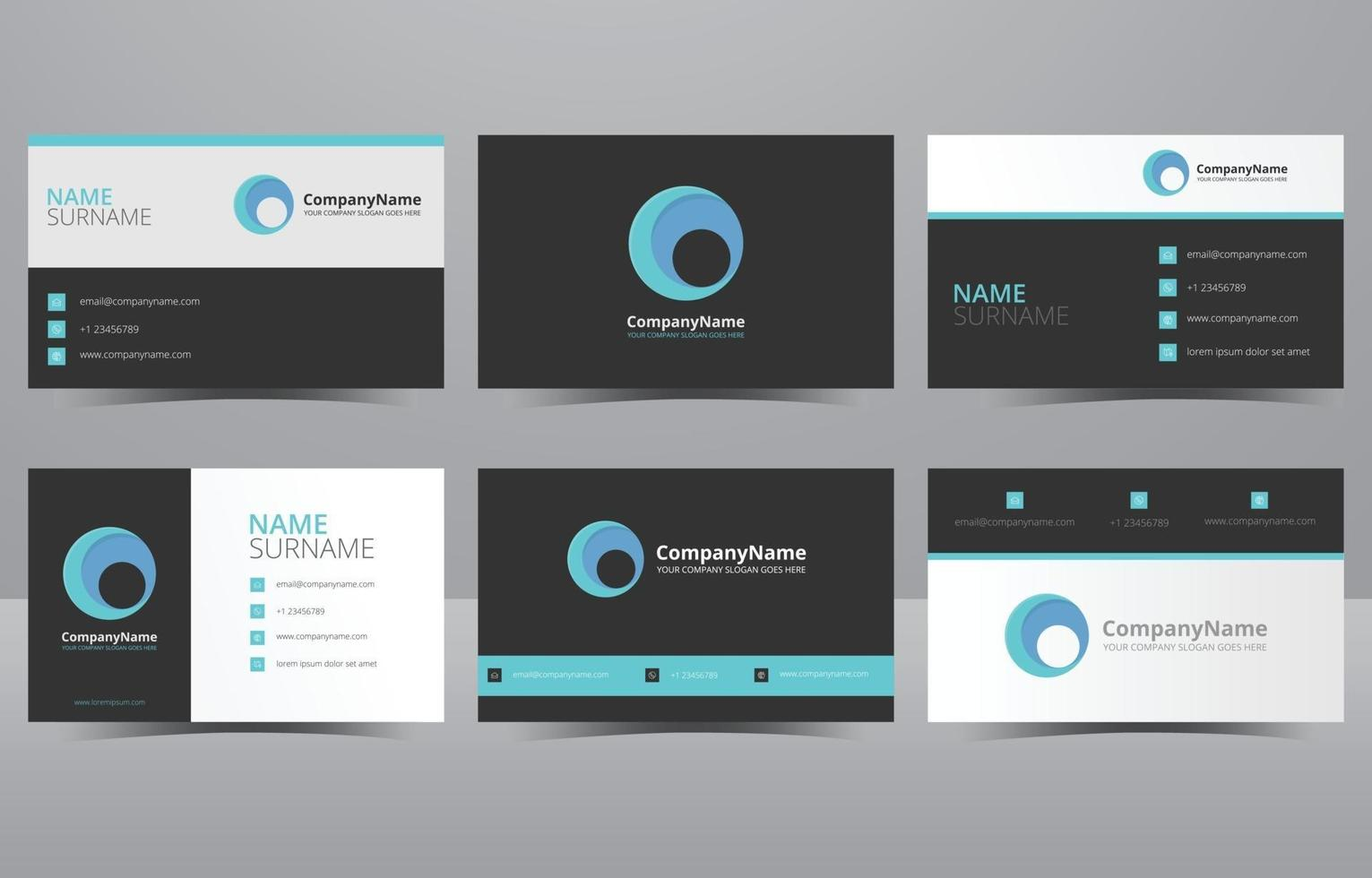 Modern Creative and Clean Blue Business Card Template vector