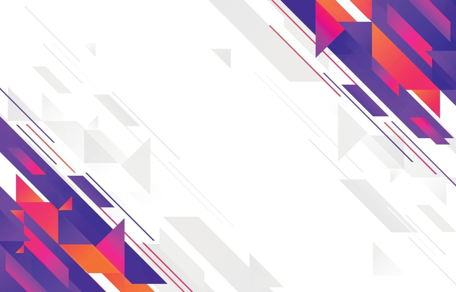 Abstract Geometric Flat Design Background vector