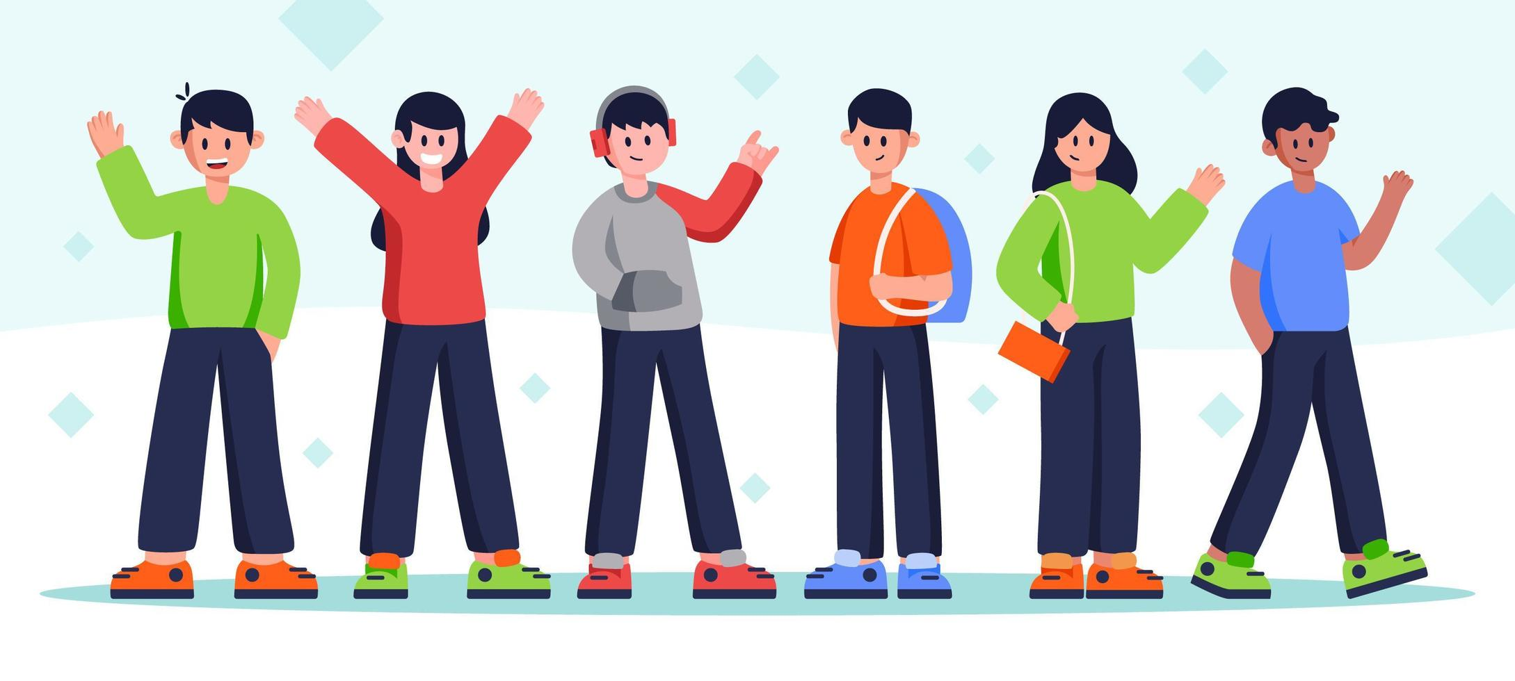 People Character Set vector