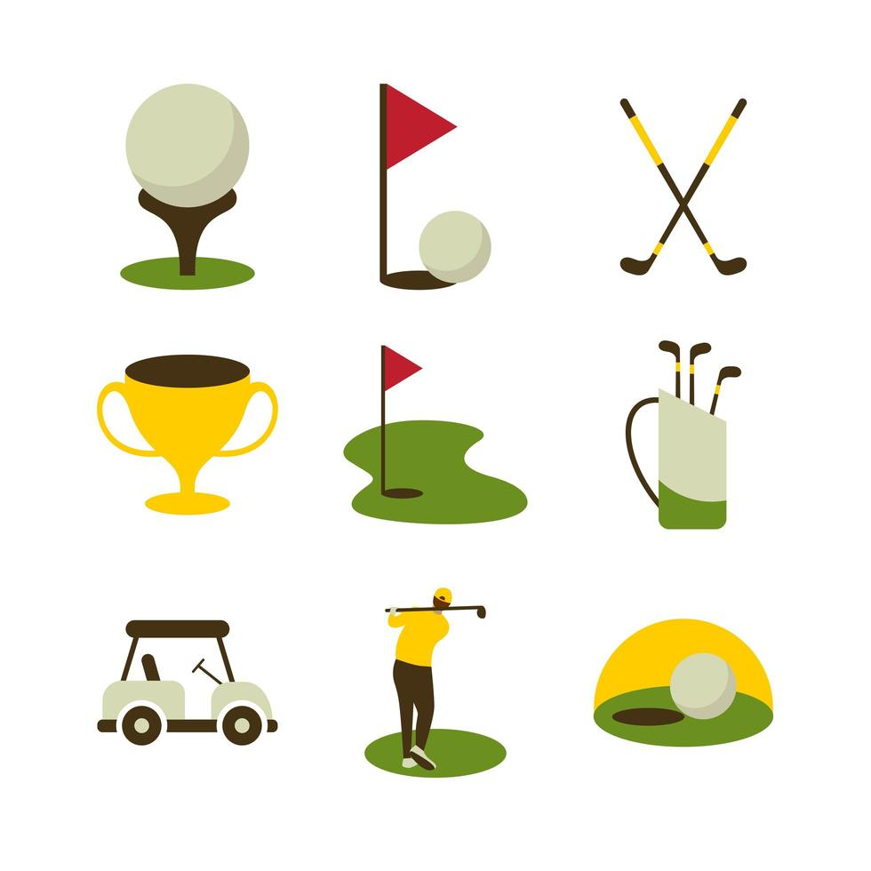 Golf Sport Icon Set vector