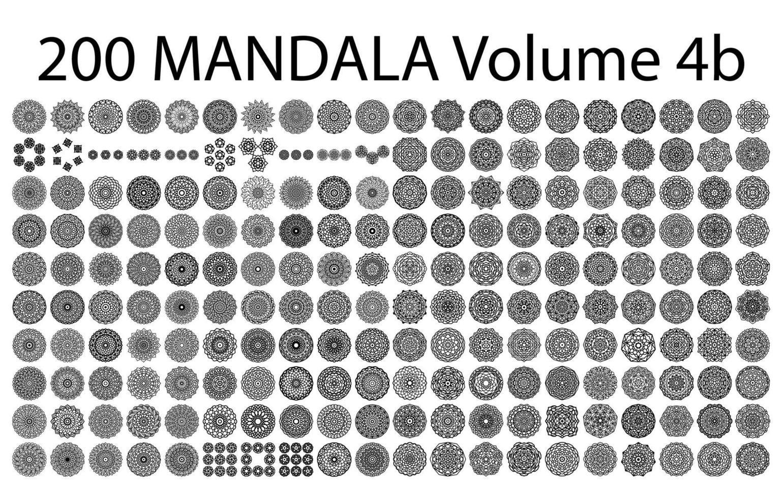 Various mandala collections - 200. Ethnic Mandala ornament. Round pattern set.Templates with doodle tribal mandalas. illustration. vector