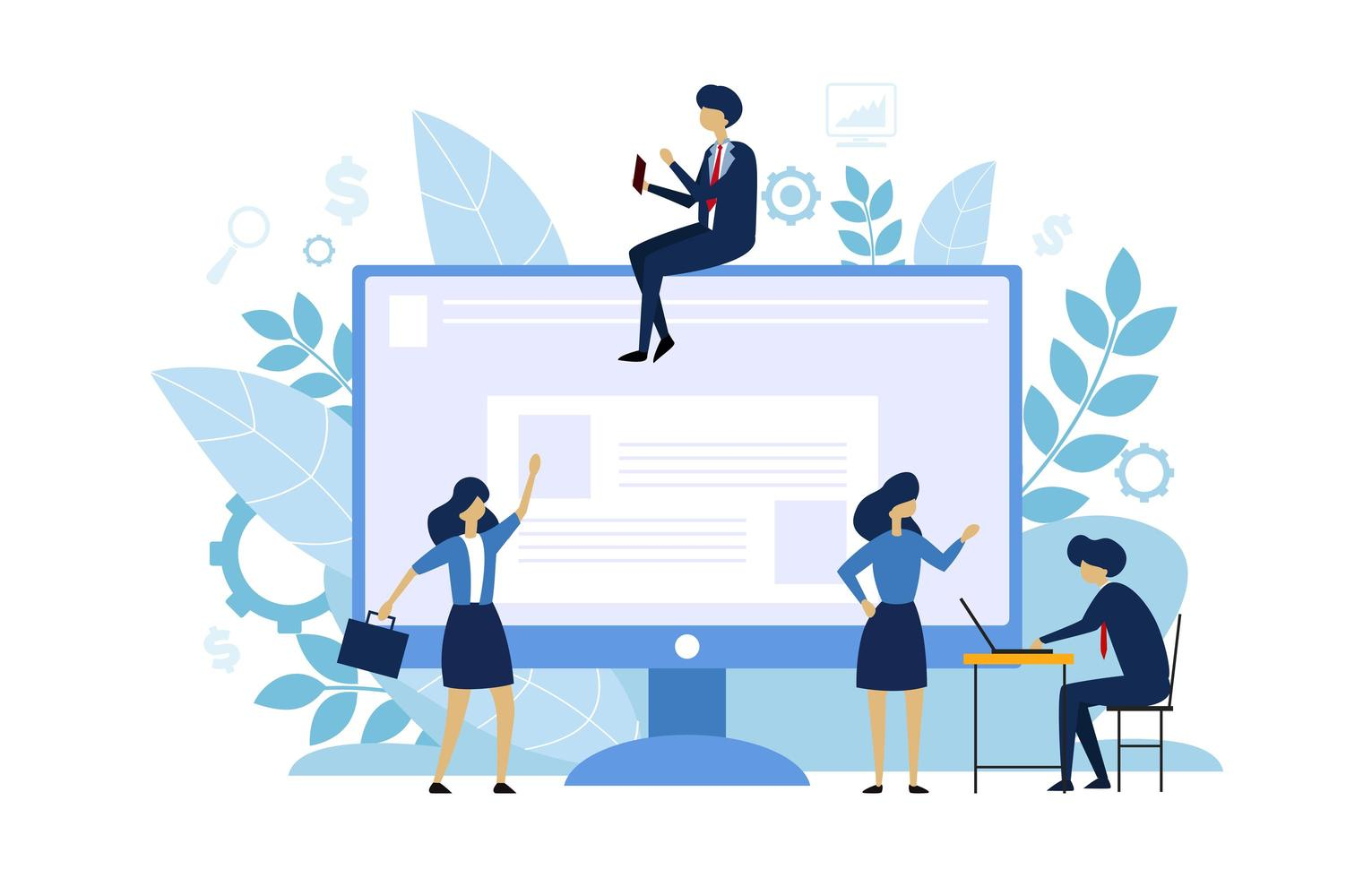 People Business Character With Activities vector