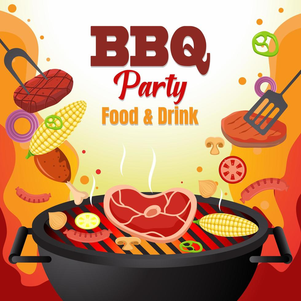 Barbeque Party Illustration vector