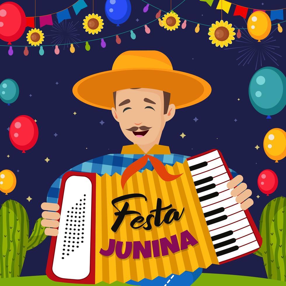 Festa Junina Illustration With Happy People vector