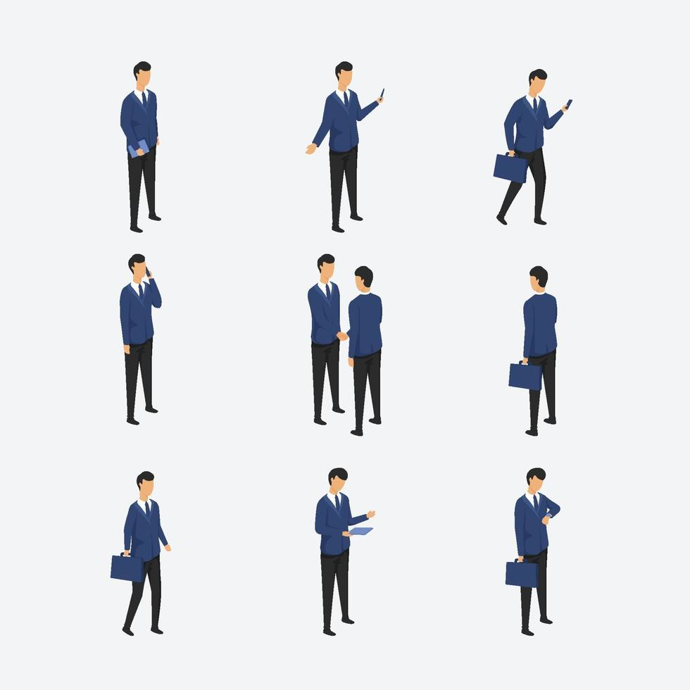 Business People Activity Isometric Character vector
