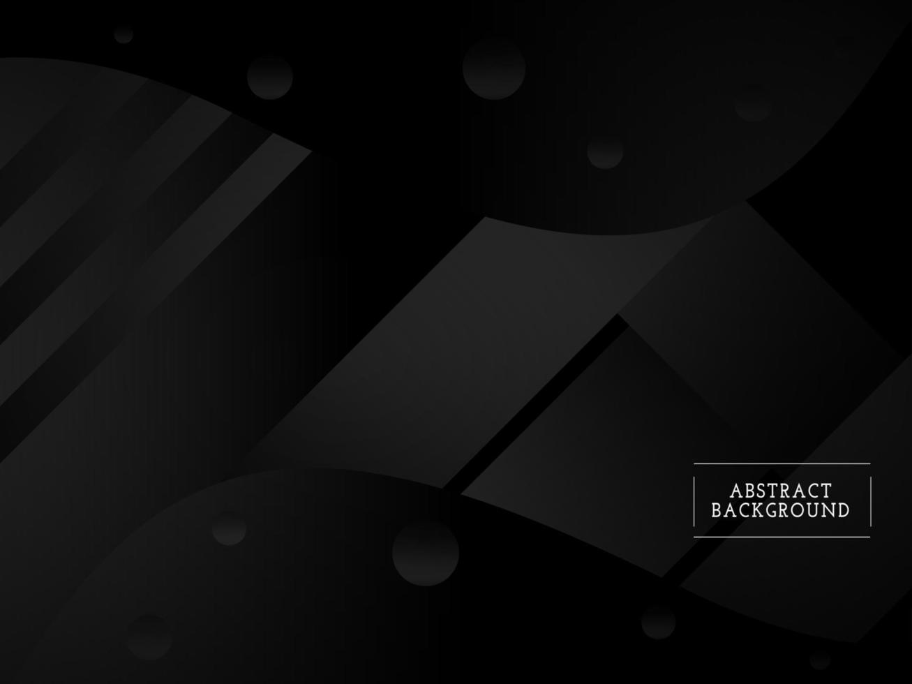 patrón de diseño elegante de fondo abstracto negro geométrico oscuro vector