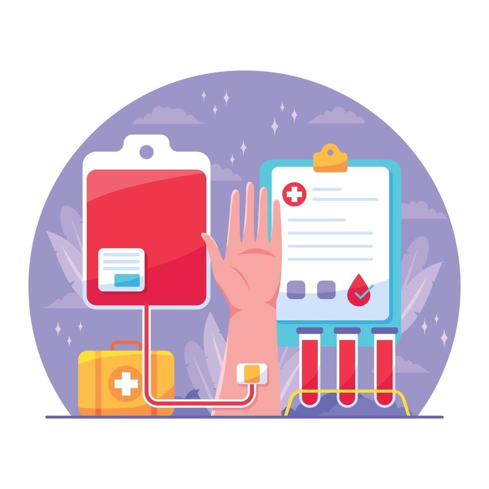 ilustración del día del donante de sangre vector