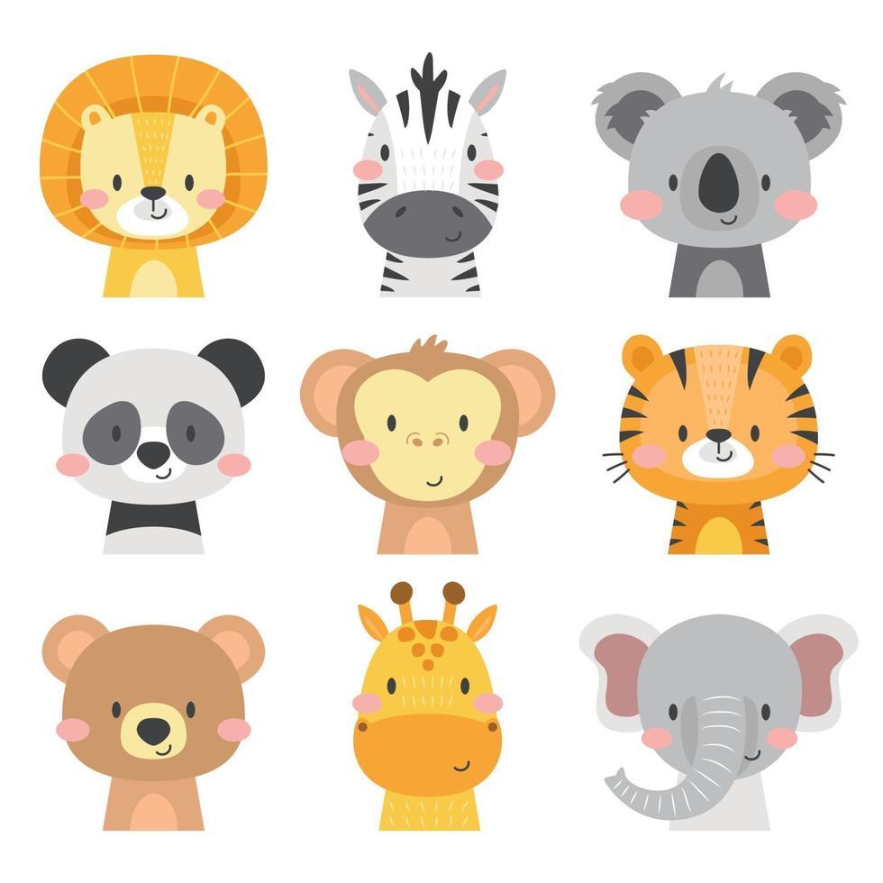 Cute Animal Icon Set vector