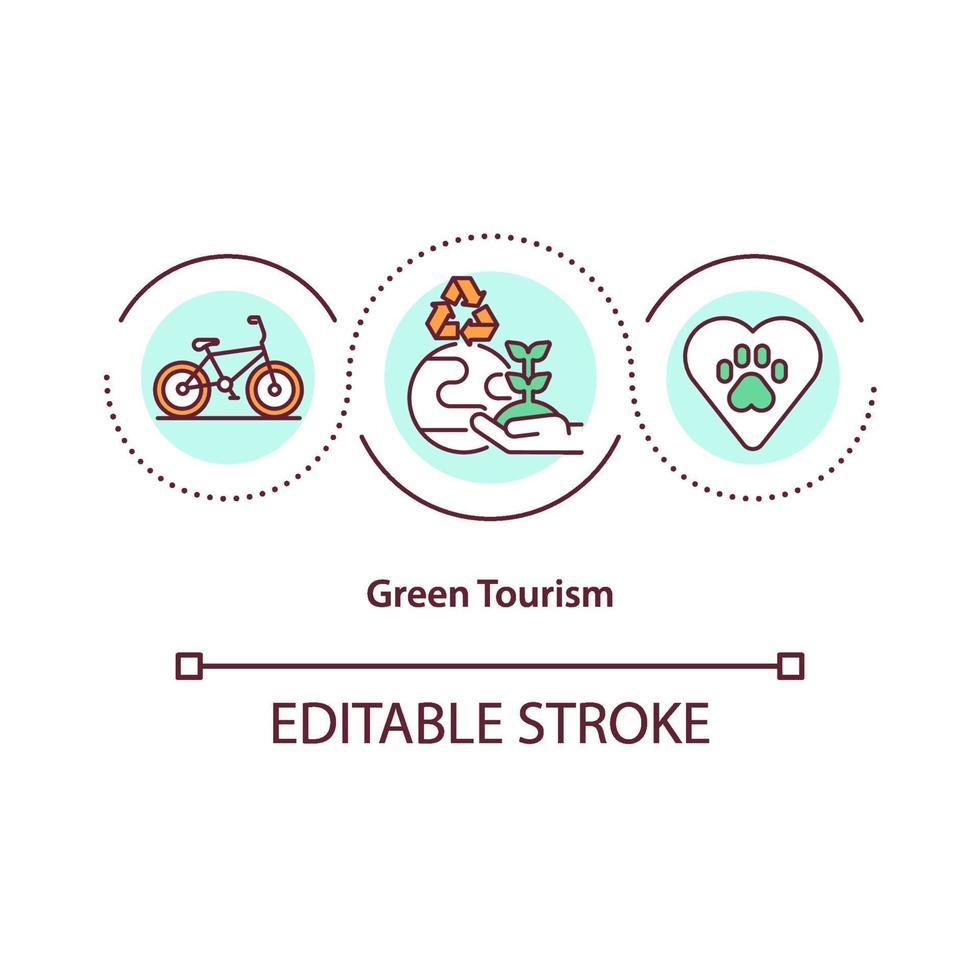 icono del concepto de turismo verde vector