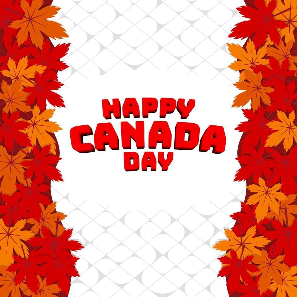 celebrar el día de canadá vector