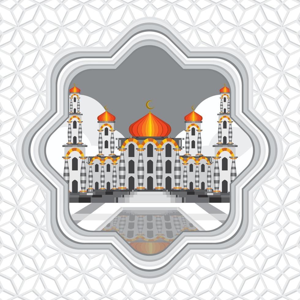 concepto de fondo de la mezquita ied vector