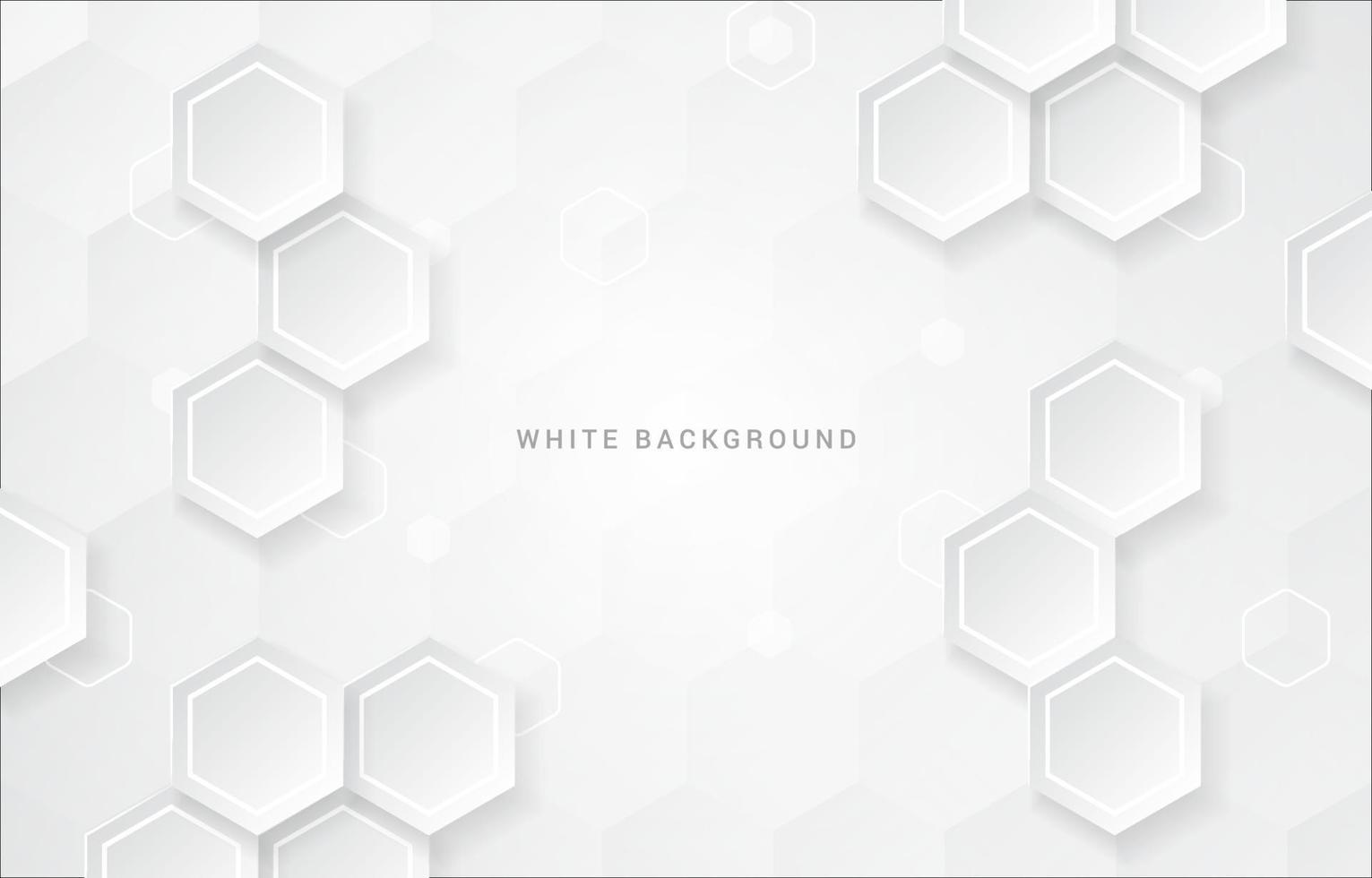 Hexagonal Geomtric White Background vector