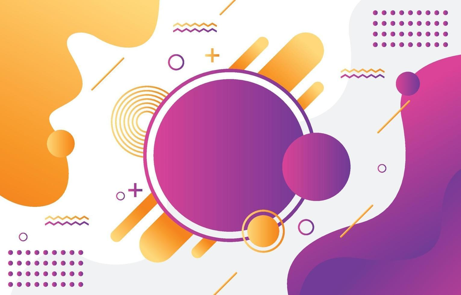 Abstract geometric shape colorful gradient background vector