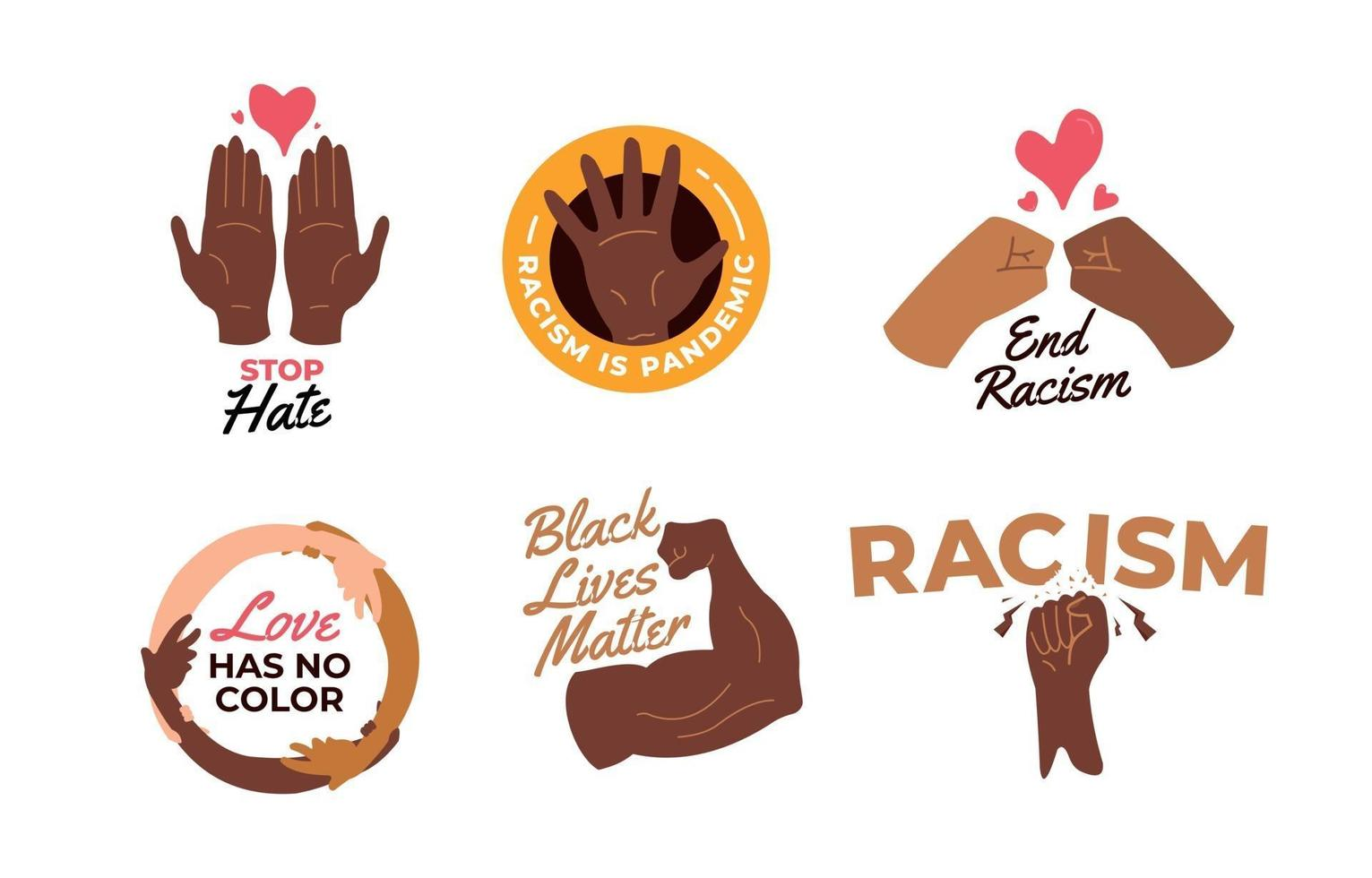 Collection Of Black Lives Matter Movement Badge vector