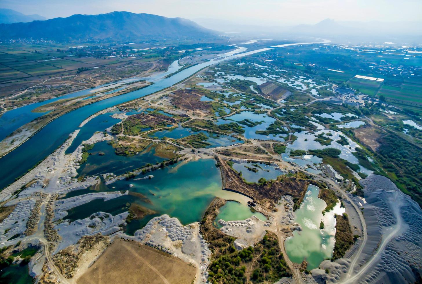 Albania from above photo