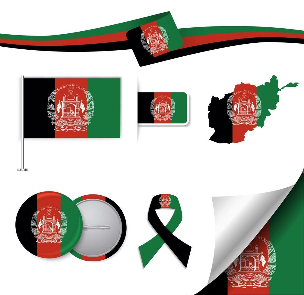 Afghanistan Flag With Elements 2385799 Vector Art At Vecteezy