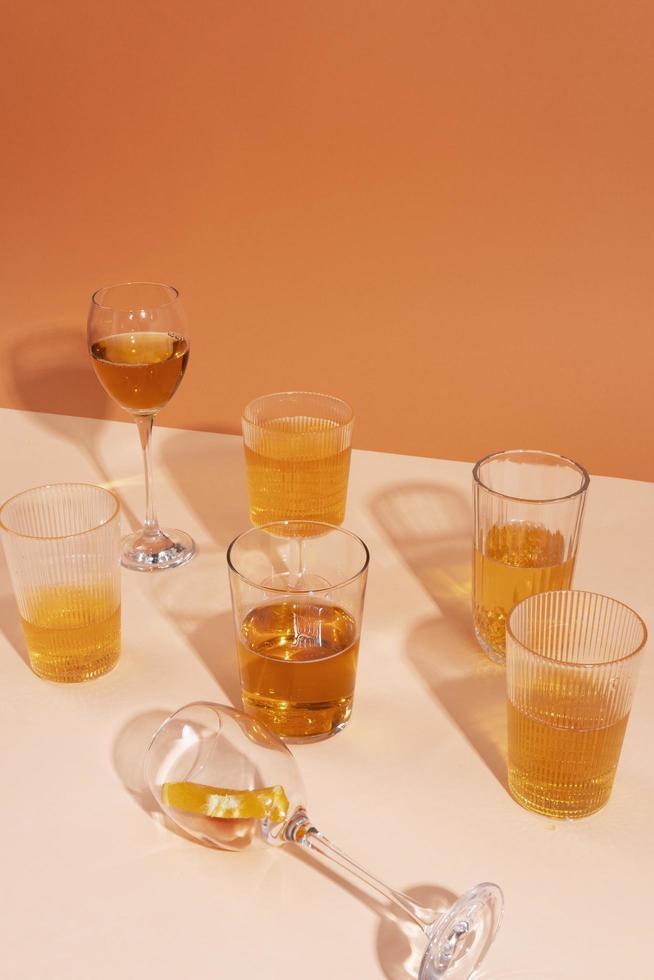 Orange wine composition photo