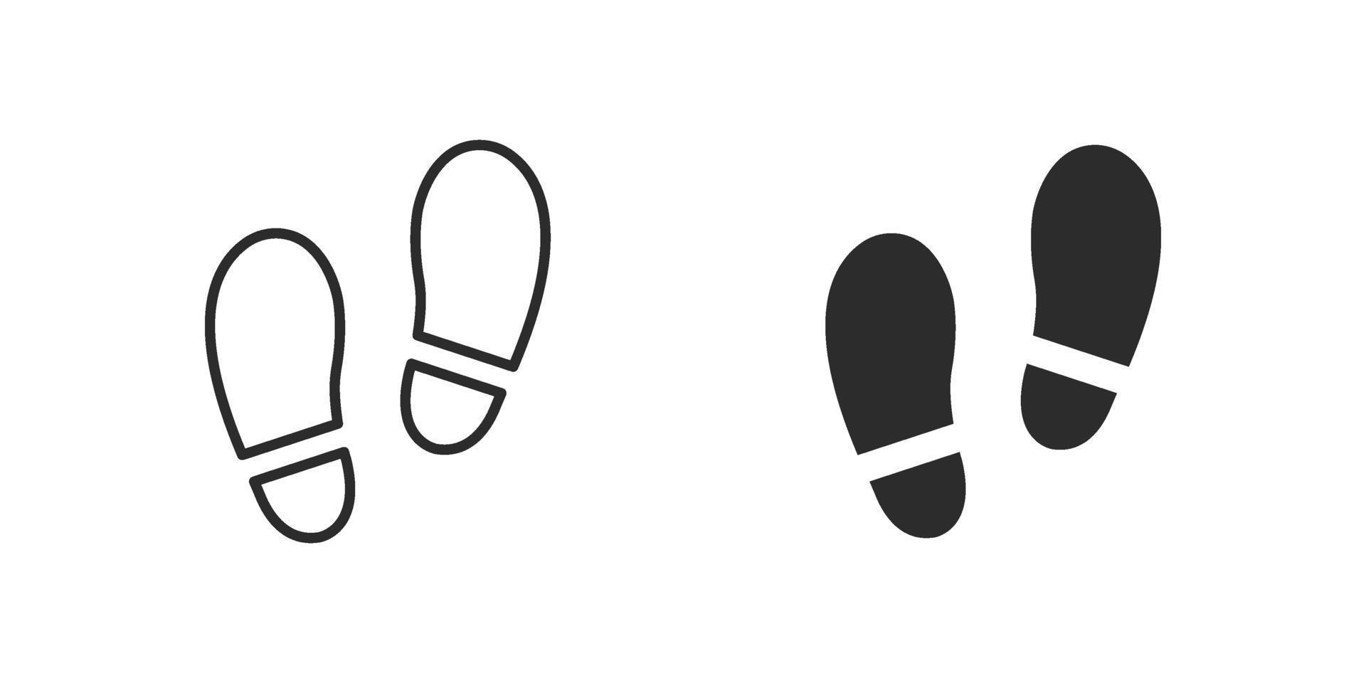 footsteps icon flat style isolated on white background vector