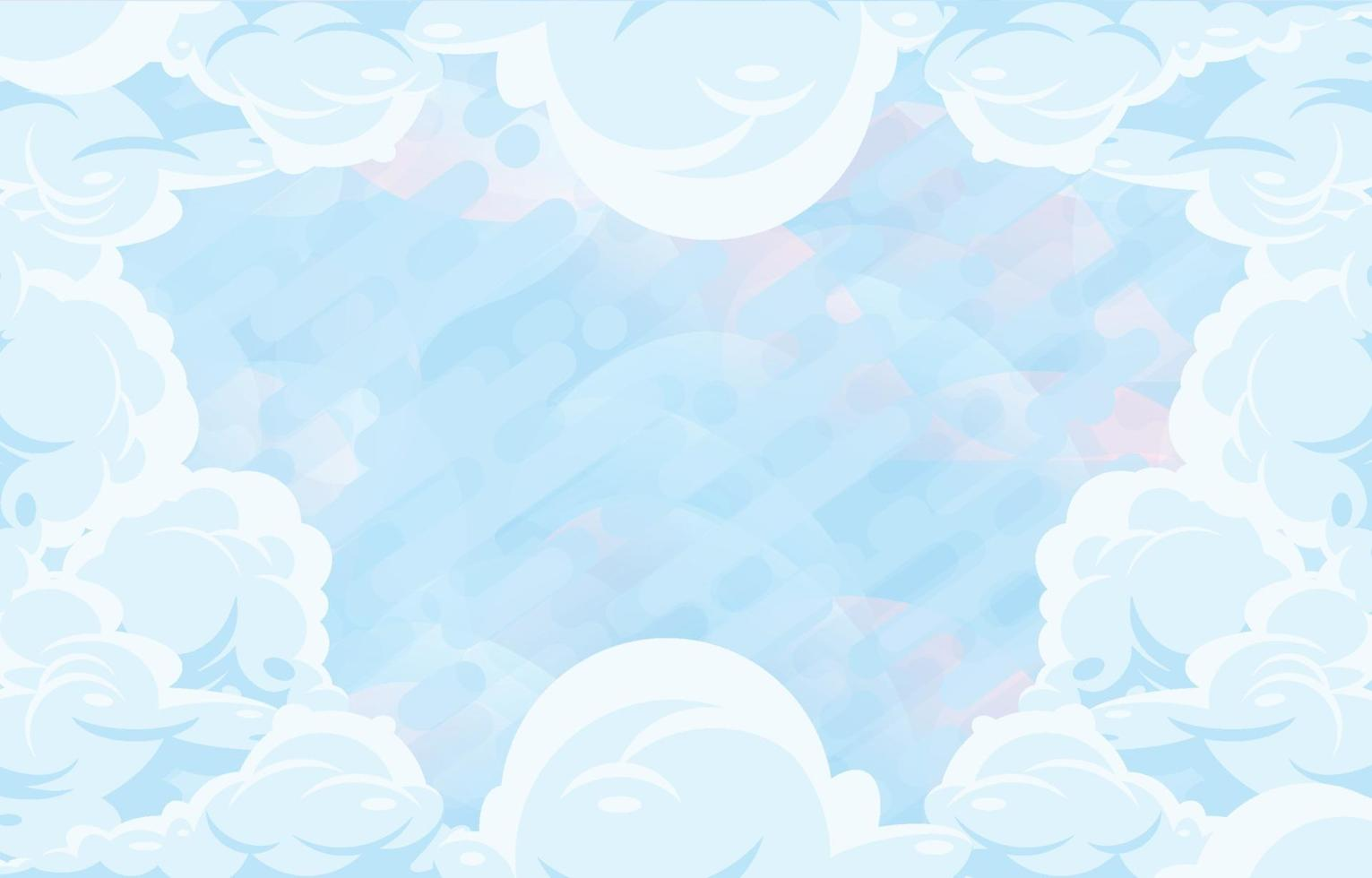 Dynamic Cloudy Background vector