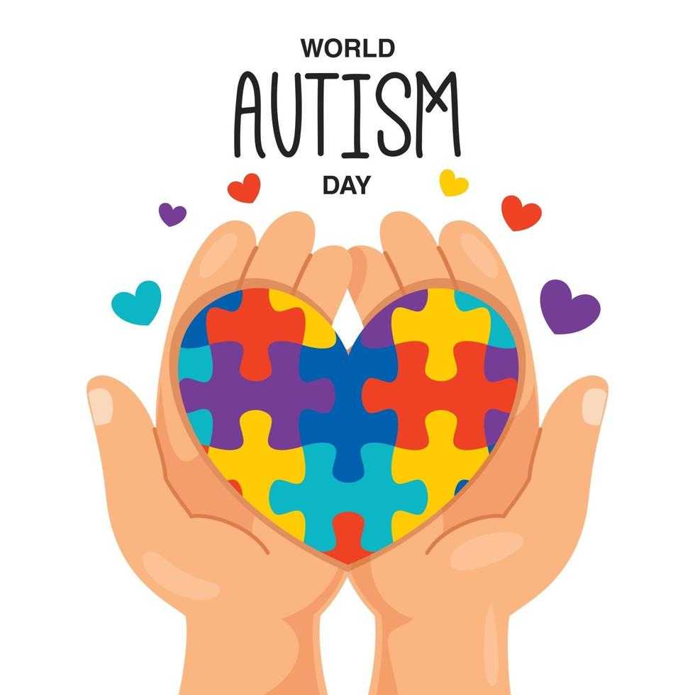Concept Drawing of Autism Awareness vector