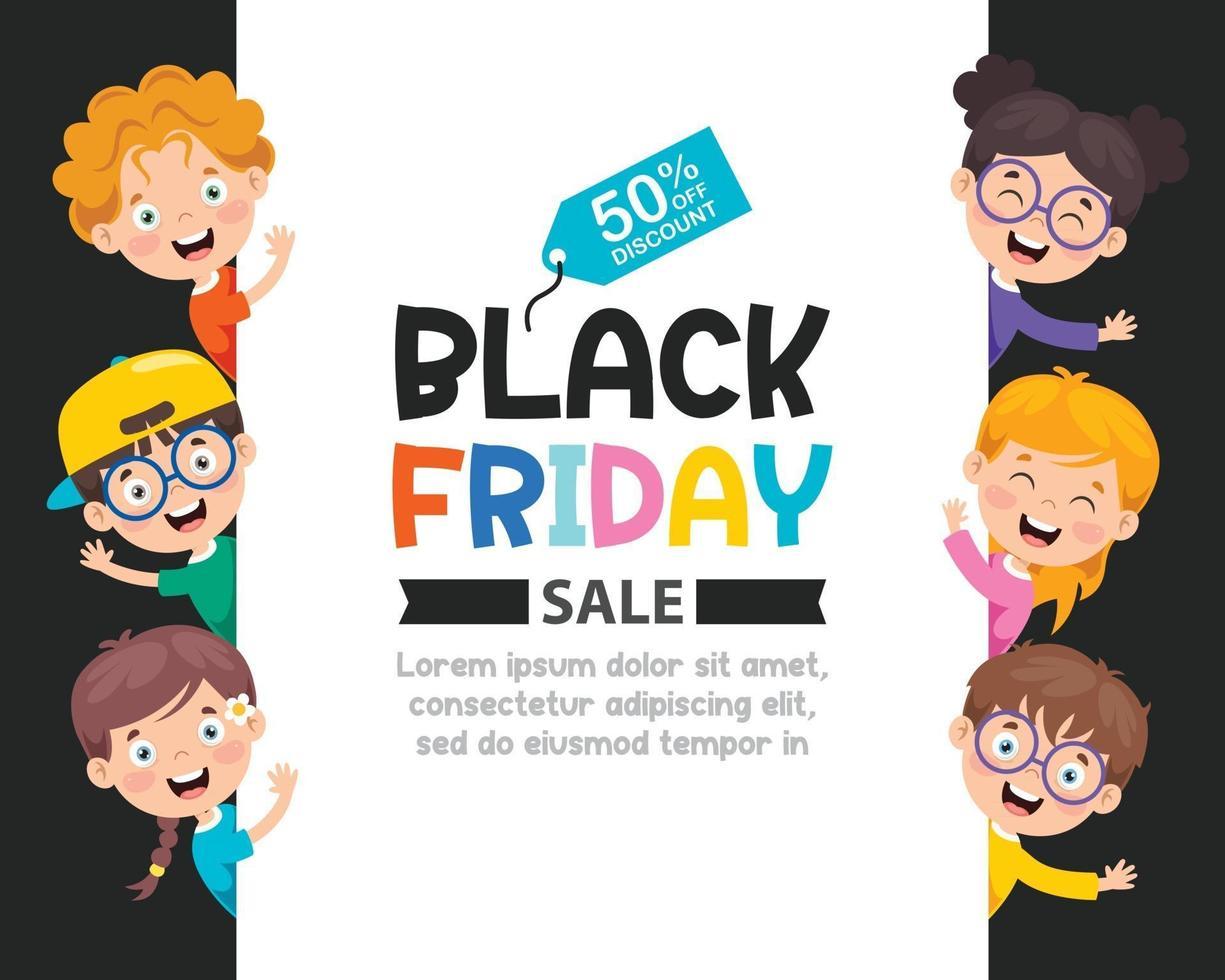 Black Friday Sale Inscription Design Template vector