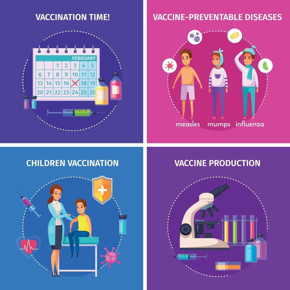 Vaccination Immunity Design Concept Vector Illustration