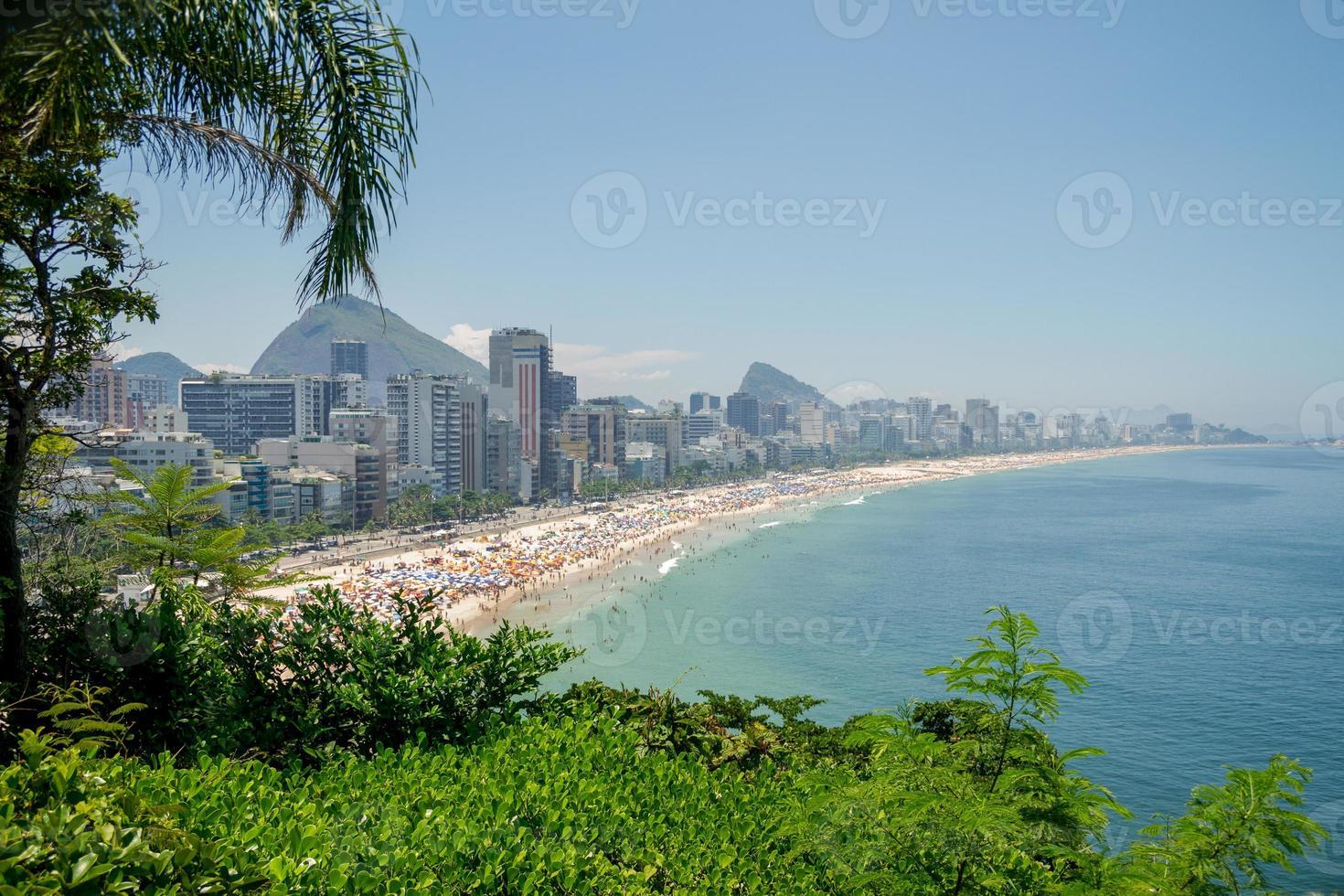 View of Leblon beach in Rio de Janeiro photo