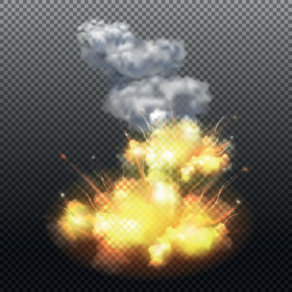 Explosion Composition Vector Illustration