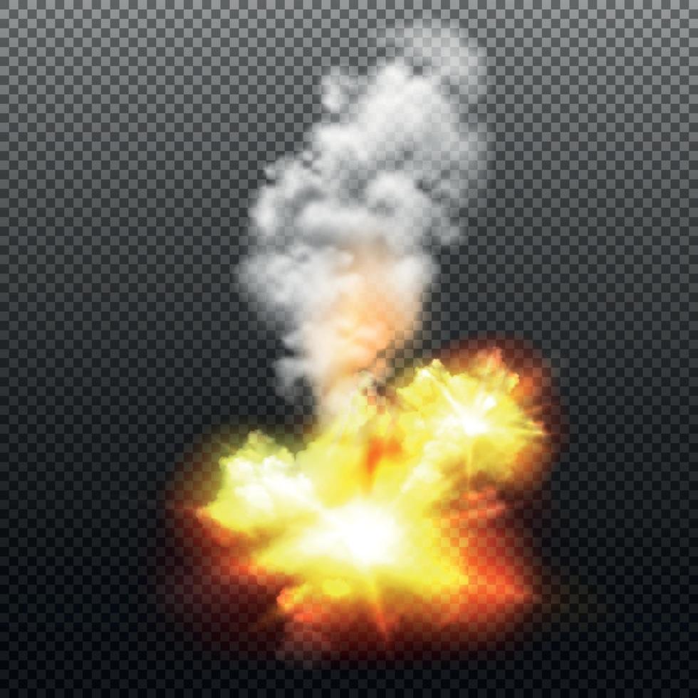 Explosion Illustration Vector Illustration
