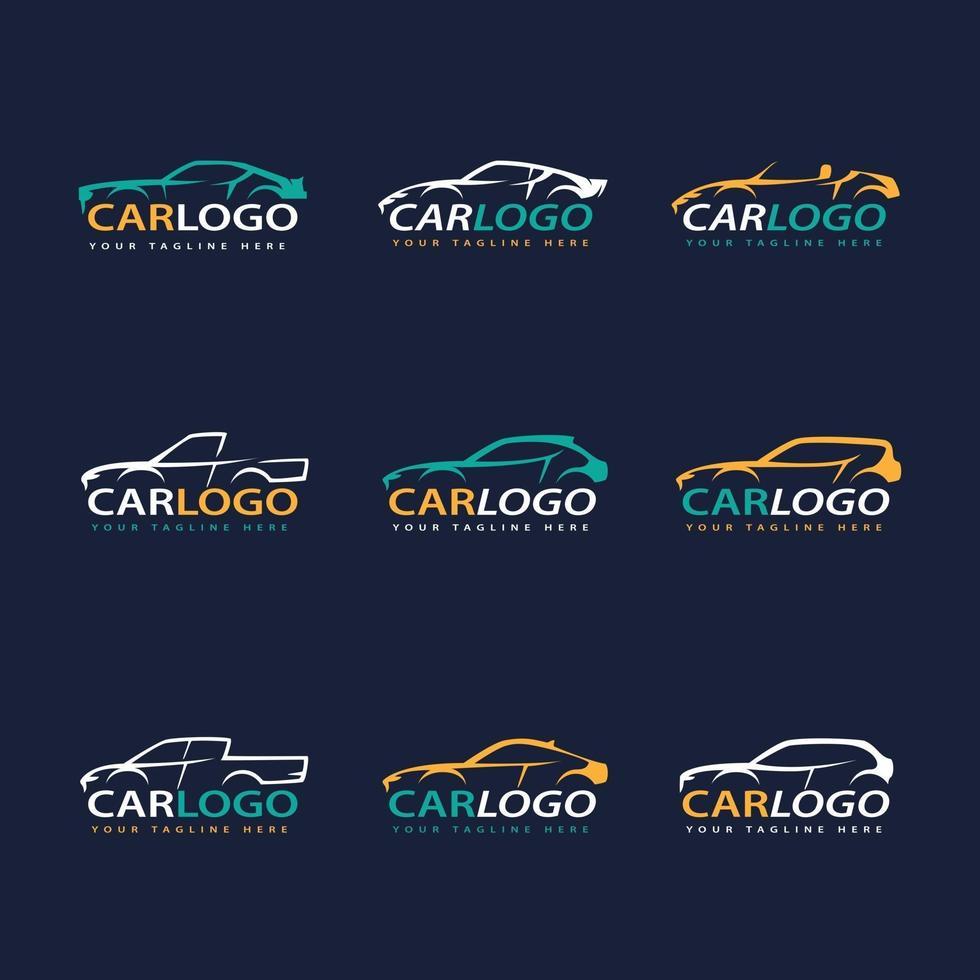 conjunto de concepto de logotipo de coche vector