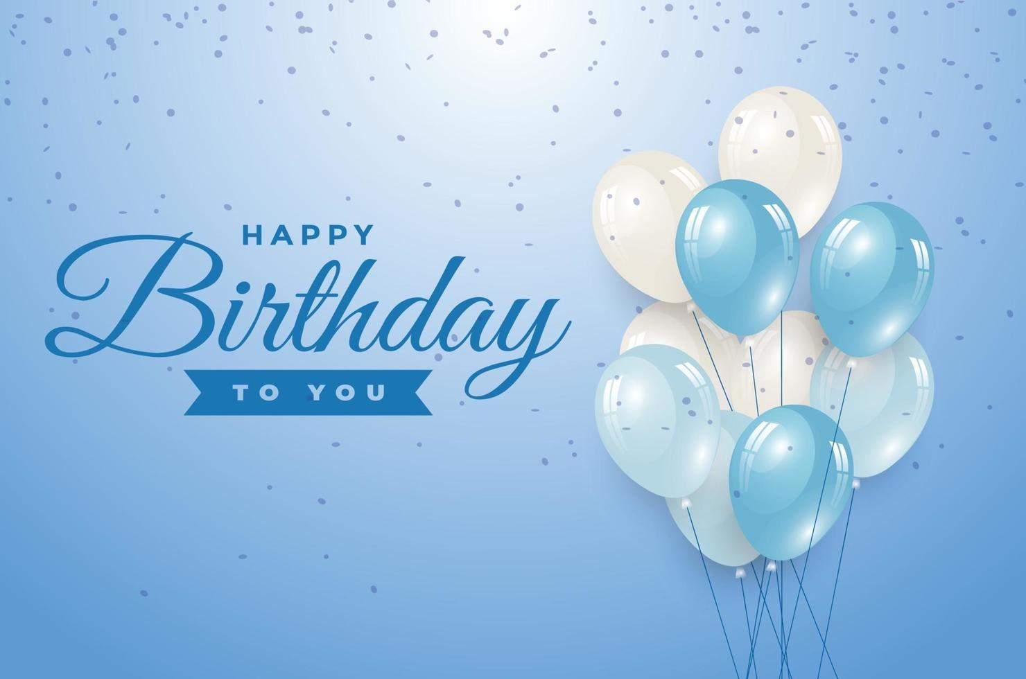 happy birthday greeting template vector