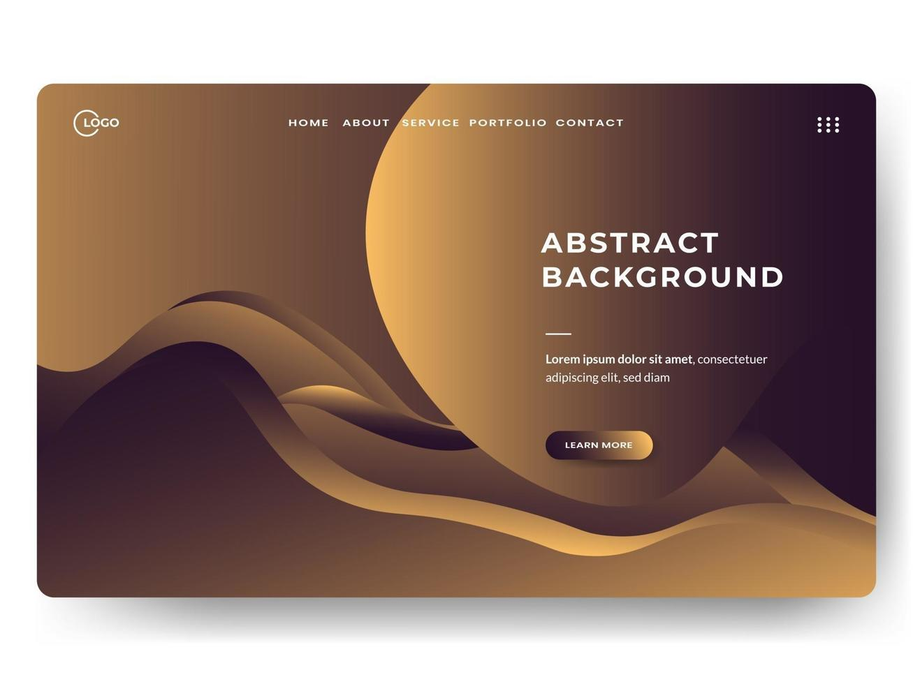 Liquid Abstract Background Gold Minimal for landing pages vector