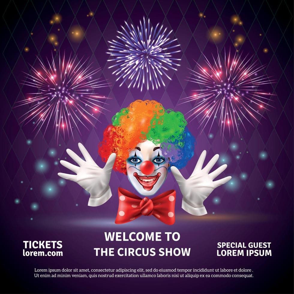 Fireworks Circus Show Background vector