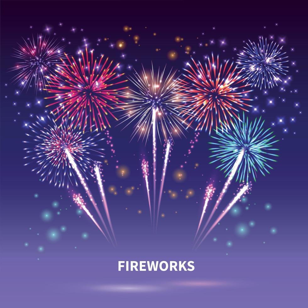 Fireworks Show Background Composition vector