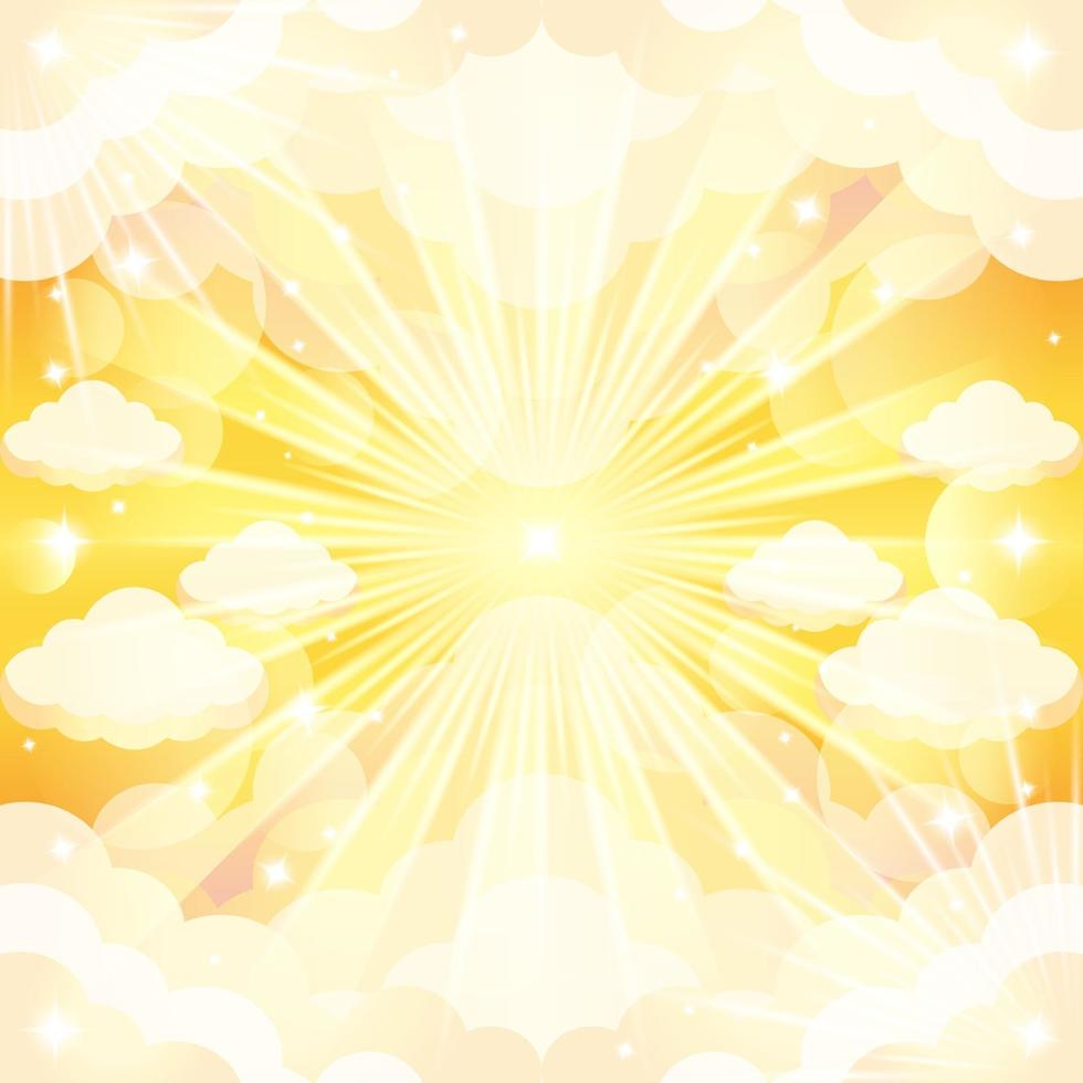 Sunny Sky Background Concept vector
