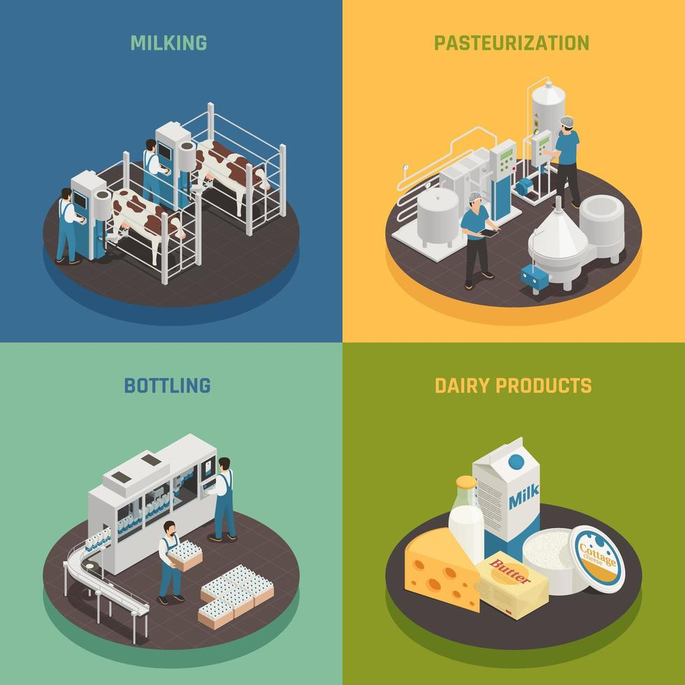 Dairy Products Design Concept Vector Illustration