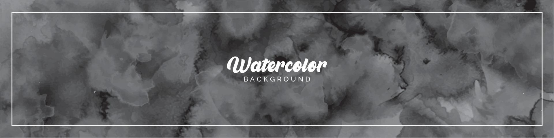 Pastel Light Black Watercolor Painted Background vector