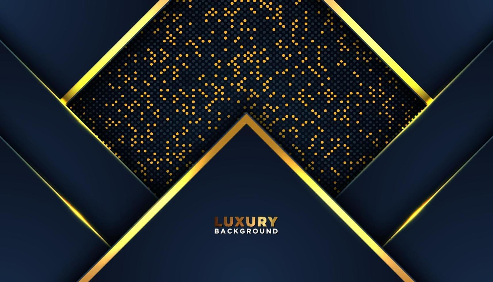 Dark abstract geometric background with glitters dots element decoration vector