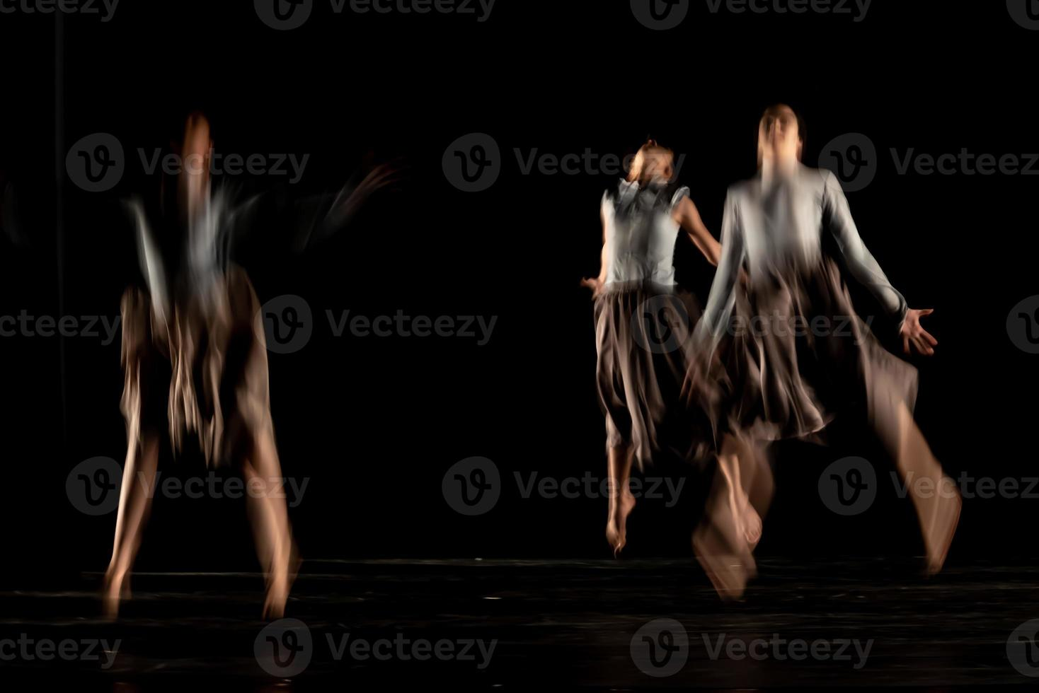 The abstract movement of the dance photo